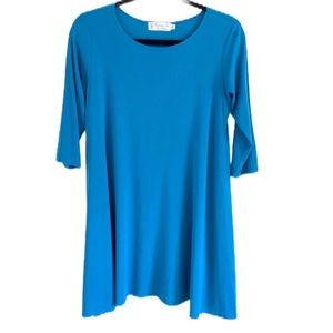 Fighting Eel Dress with Pockets Blue Size S